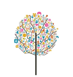 Tree baby vector image
