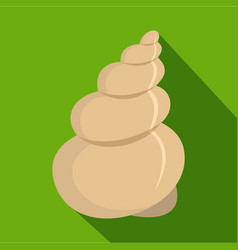 Twisted shell icon flat style vector