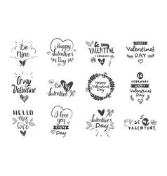 valentine day labels badges and icons love vector image