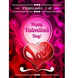 Valentines Day with text space and lo vector
