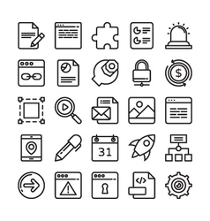 Web Design and Development Colored Icons 3 vector image