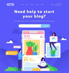 Web site design template write a blog vector