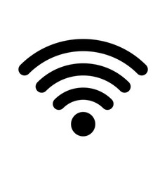 wifi wireless internet signal flat icon vector image