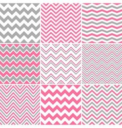 Chevron Seamless Patterns vector image