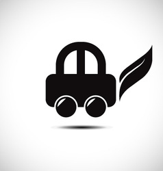 Eco friendly car icon vector image