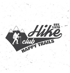 hike club happy trails vector image vector image