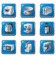 kitchen appliances buttons vector image vector image
