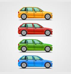 car color set art vector image