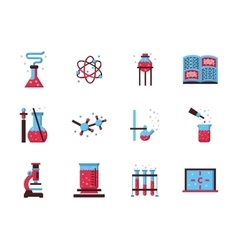 Chemistry Science flat color icons vector image vector image