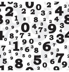 symbols of digits vector image vector image