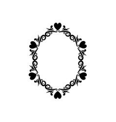 vintage romance border frame decoration romantic vector image