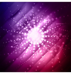 abstract star burst vector image vector image