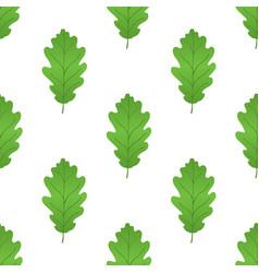 acorn leaf seamless pattern cartoon style vector image