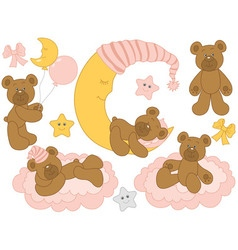 Baby Bear Set vector image