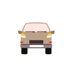 cartoon car icon in flat vector image