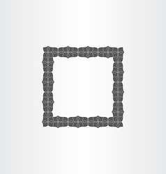 gray decorative square frame vector image vector image