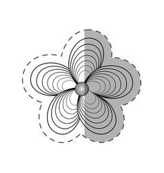 jasmine flower decoration monochrome vector image vector image