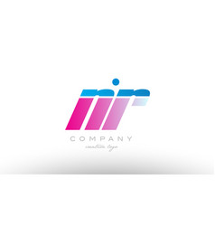 nr n r alphabet letter combination pink blue bold vector image vector image