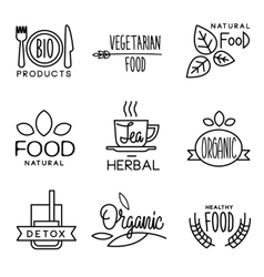Organic Food and Drink Label vector image