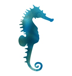 styled seahorse vector image vector image