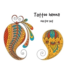 tattoo henna element vector image