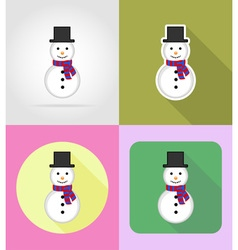 christmas and new year flat icons 03 vector image