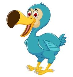 cute dodo bird cartoon posing vector image vector image