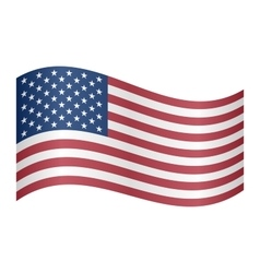 Flag of the United States waving vector image