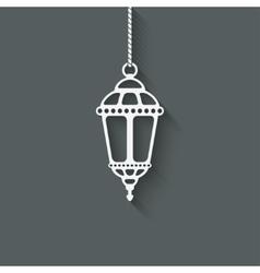 Ramadan lantern design element vector image vector image