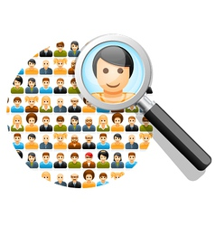 Search in social network vector image