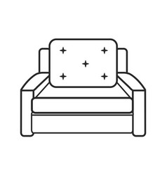 sofa chair comfort furniture outline vector image