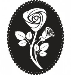 vector rose card vector image vector image