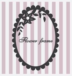 vintage frame flower ornament pink vector image vector image