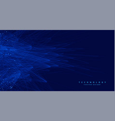 abstract blue tachnology big data ai background vector image