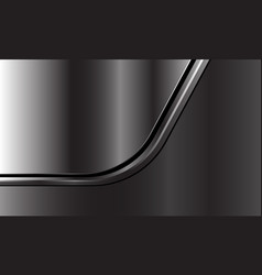 Abstract silver black line curve overlap on dark vector