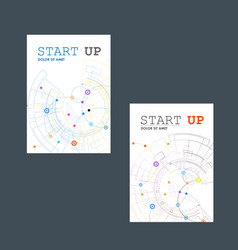Abstract technology brochure with dots and vector