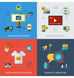 Advertising Set Isolated vector