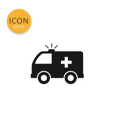 ambulance icon isolated flat style vector image