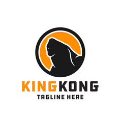 ancient animal gorilla logo vector image