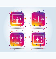 automatic door icons elevator symbols vector image
