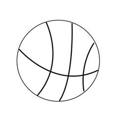 basketball ball sport equipment supply icon vector image