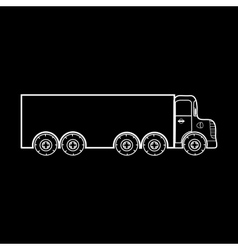 Big truck transportation of heavy loads vector image