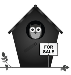 Birdhouse for sale vector image