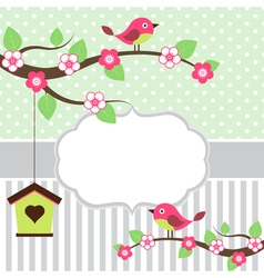 Birds Card vector image