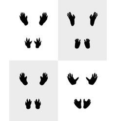 Black footprints of monkeys vector