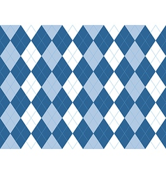 Blue white argyle seamless pattern vector image