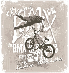 BMX extreme free style vector