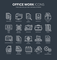 Business and office work documents paperwork vector