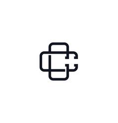 C monogram letter logo icon design vector