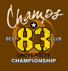 champs best club vector image